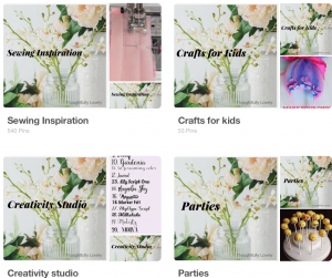 how to customize pinterest boards