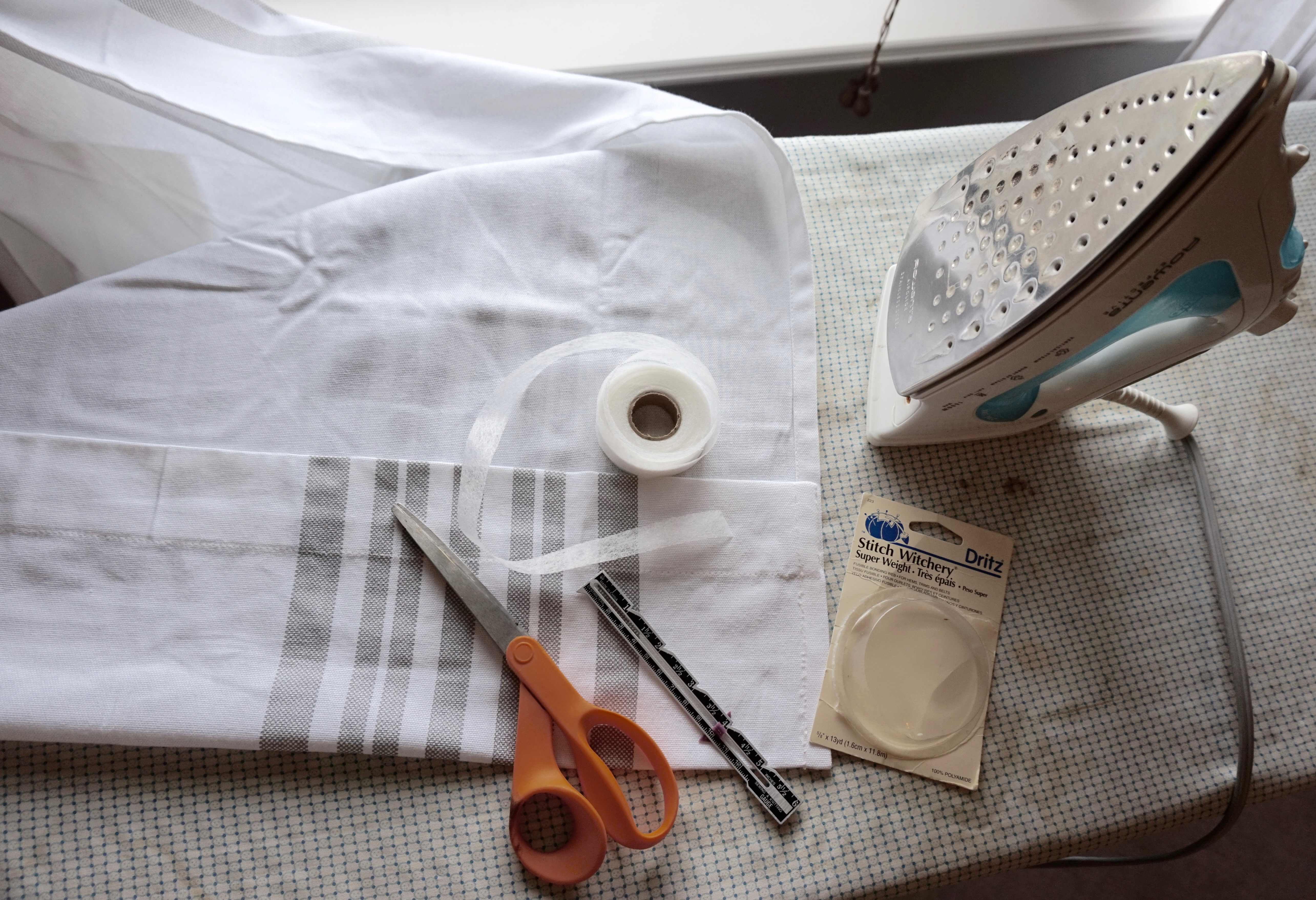 How to hem drapes without a sewing machine