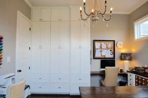craft room wooden beaded chandelier