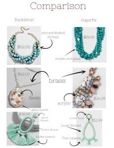 sugarfix earrings, baublebar earrings