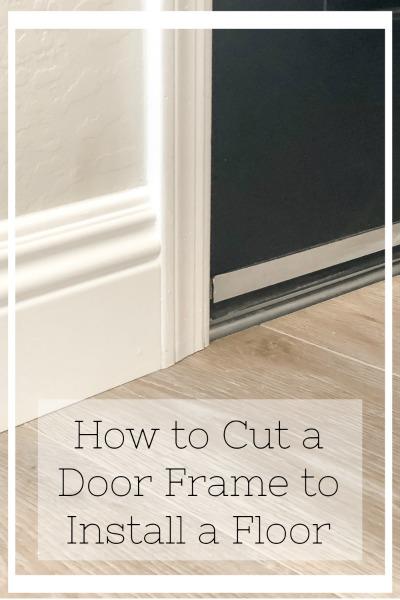 How to cut a door jamb