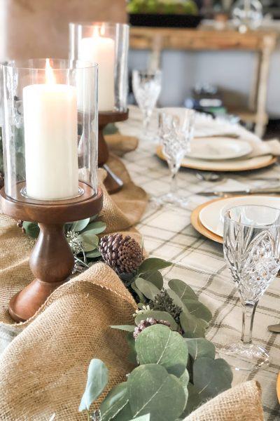 simple thanksgiving table decor ideas