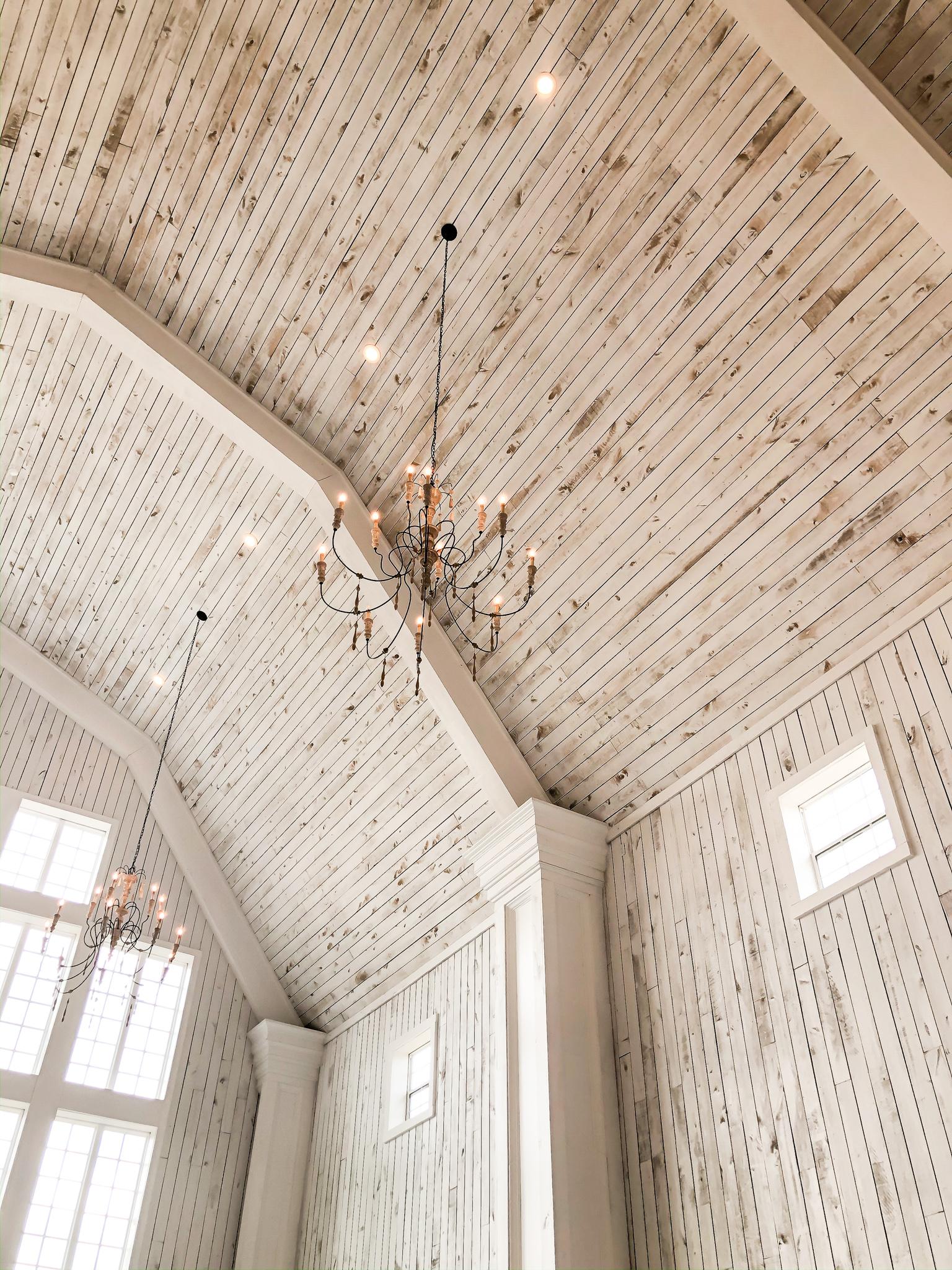Interior White Sparrow Barn