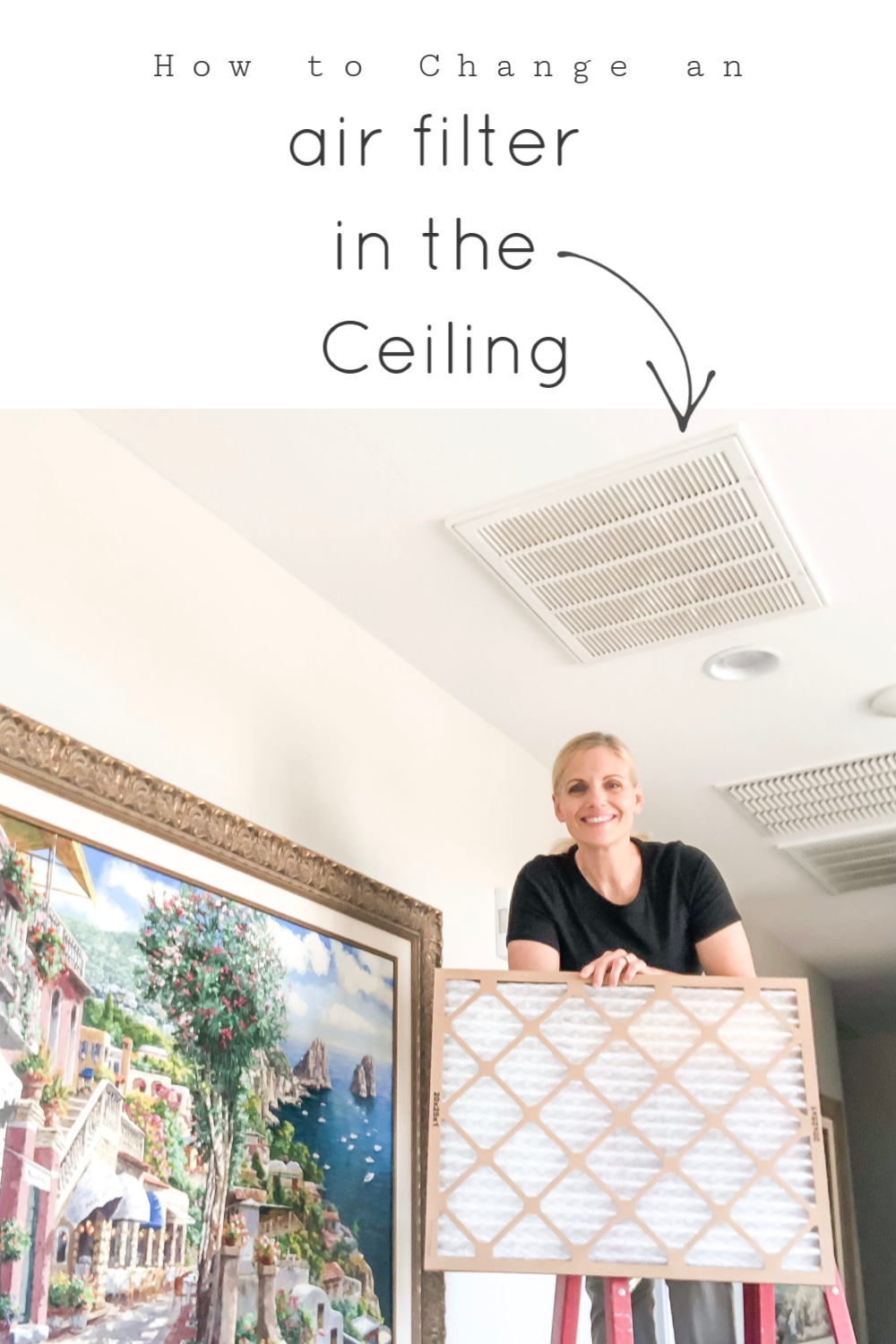 How to change and air filter in the ceiling