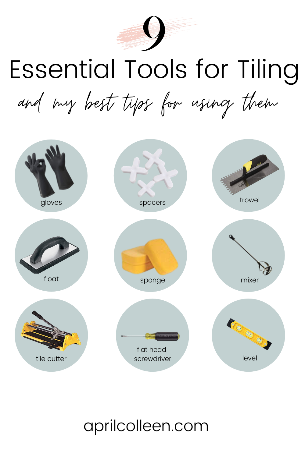 tools you need for tiling