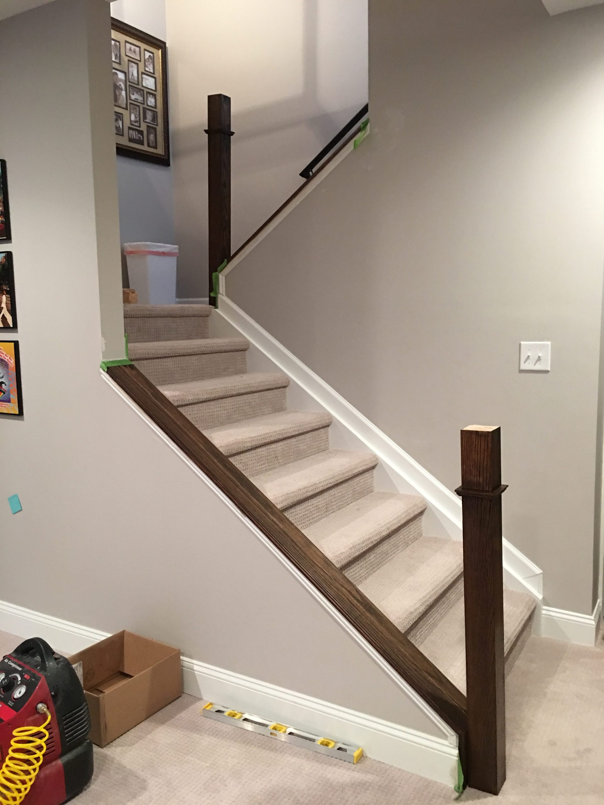 How to build a stair railing