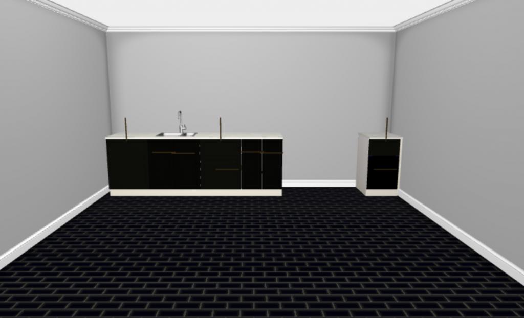 Ikea Sektion layout for basement