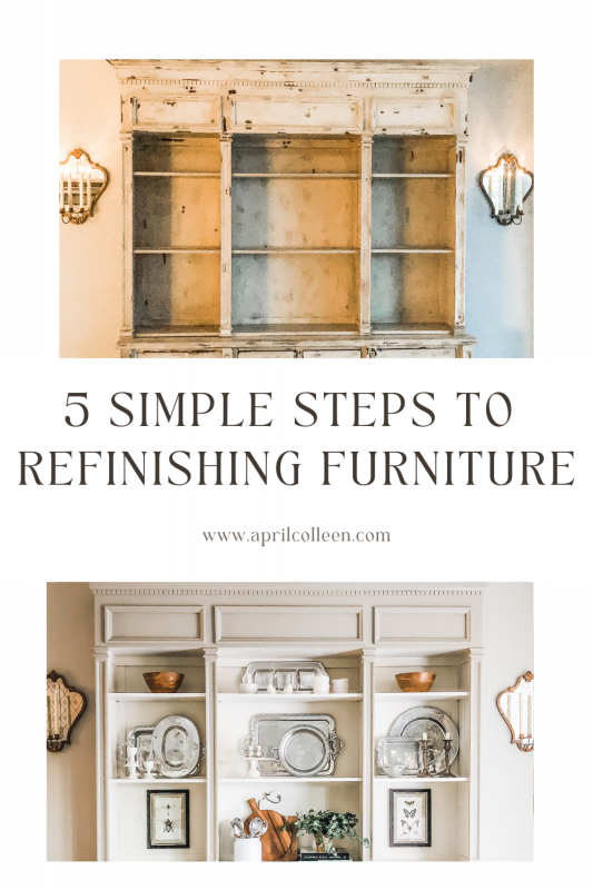 steps to refinish furniture