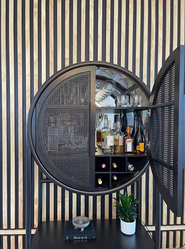 round bar cart
