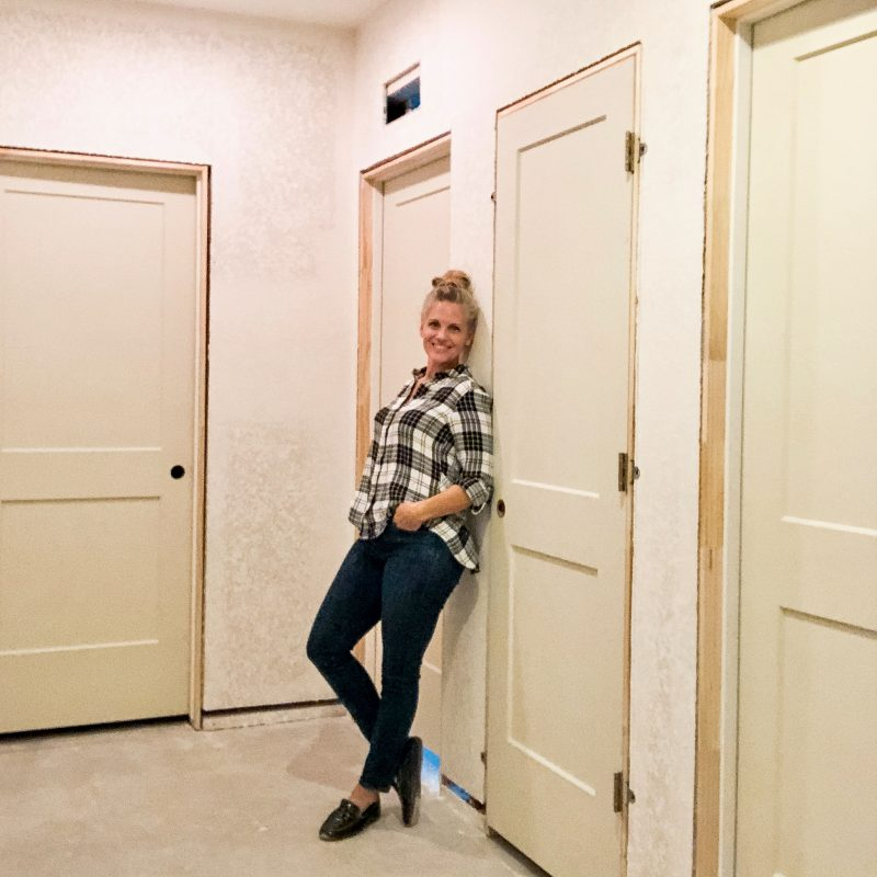 hanging a new door in a basement